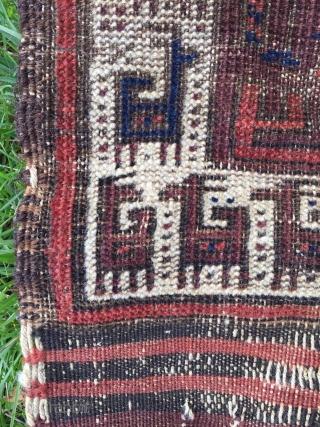 Antique Baluch Carpet Size.134x83cm