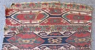 Antique Shahsavan Mafrash Sumak Size.47x41cm