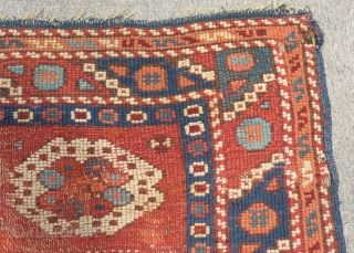 Antique West Anatolian Bergama Carpet Size.90x86cm