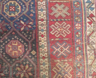 Antique Caucasian Zakatala Carpet Size.227x135cm