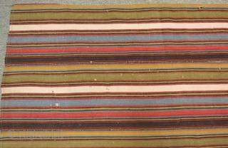 Antique Shahsavan Striped Kilim Size.223x92cm