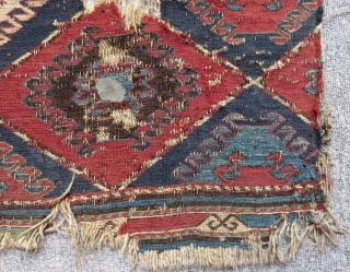 Antique Sumak Mafrash Panel Size.44x43cm