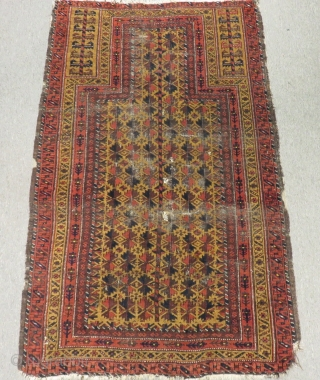 Antique Baluch Prayer Carpet Size.144x92cm