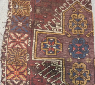 19th Century Central Anatolian Karaman Carpet Size.290x112cm