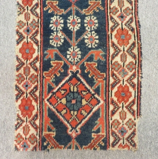 Antique Nort West Persian Border Fragment Size.68x34cm