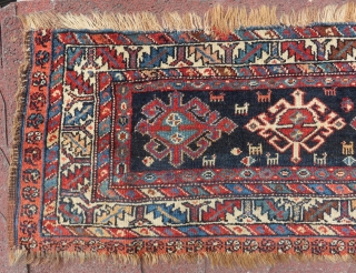 Antique Persian Veramin Mafrash Bag face Size.98x42 Cm