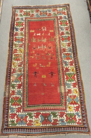 Antique Caucasian Borjalu Carpet Size.232x122cm