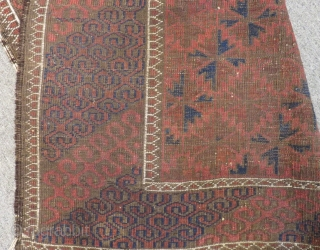 Antique Baluch Carpet Size.178x102cm