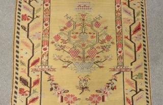 Antique West Anatolian Gordes Carpet Size.205x118cm
