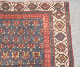 Antique Caucasian Zehur Carpet Size.160x106cm