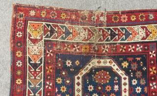 Antique Caucasian Karabagh Prayer Carpet Size.155x90cm