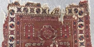 Early 19th Century West Anatolian Bergama fragment Rug Size.100x90cm
