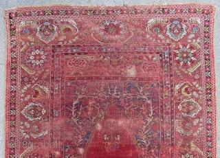 Early 18th Century West Anatolian Transilvanya Prayer Rug Size.155x112 Cm