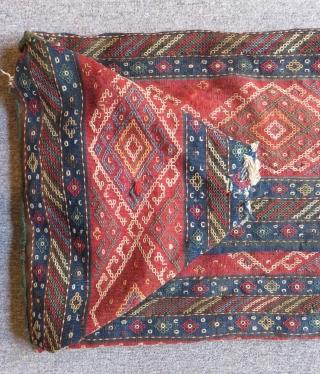 Antique Shahsavan Kilim Beşik Size.115x60cm