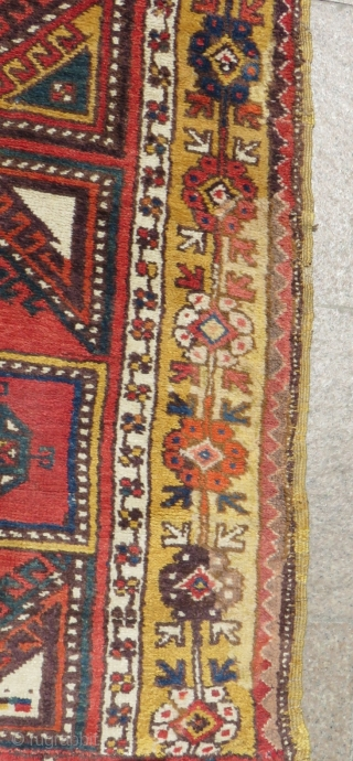 Early 19th Century Central Anatolian Aksaray Gelvery fragment Rug both sides cut and shut as you can see from pictures Size.184x123cm