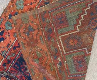 Early 19th C East Anatolian fragmrnt Rug Size.106x97 Cm