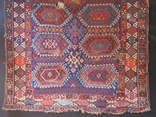 Antique Persian kurdish Jaff Rug Size.207x130cm