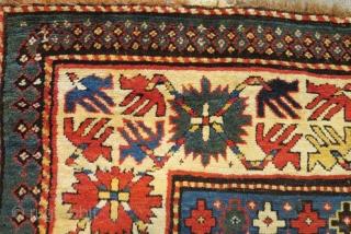 Antique Caucasian Borjalı Rug Size.254x126cm
