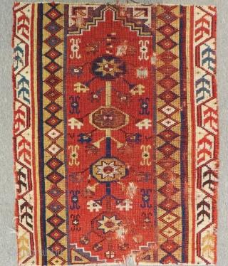Mid 19th Century West Anatolian Meghri fragment Rug Size.78x60 Cm