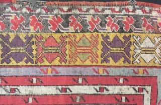 19th Century Central Anatolian Mucur Prayer Rug Size.175x130cm