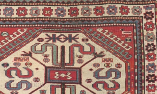 Beautiful Caucasian Cloudband Rug With Good Color With Beautiful White Madalion Size.205x128cm