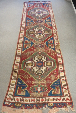 Early 19th Century Central Anatolian Karaman Carpet Size.398x120cm