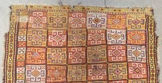 Early 19th Century Cenral Anatolian Konya Bozkır Rug Size.180x142cm