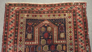 Antique Caucasian Shirvan Marasali Prayer Rug Circa 1870-1880 Size.146x116cm