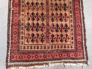 Old Baluch Prayer Carpet Size:155x98 cm