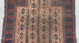 Old Prayer Baluch Carpet Size.122x95cm