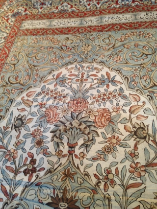 Beautiful Old Kalamkar Persian, end of 19th century, very good condition apart two small repare, size is 250/180 cms.