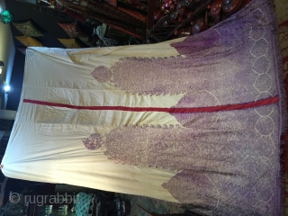 Rare 19th century embroidery from Morroco Rabat, very good condition, double sided, size is 270/200 cm