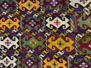Beautiful Pair of Uzbek lakai embroidery in beautiful condition, very nice fresh colors , size is 60/36cm