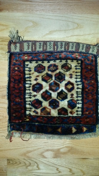 Sweet little Afshar/ gashgai bag,  high quality wool, weave, and dyes . 19th century, great closure system, a little tribal  masterpiece. I really like this piece more in person.  ...