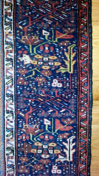 "Karadja ca. 1920 74""x56"" above average colors and weave for this type, larger size, good graphics and condition. floor ready"