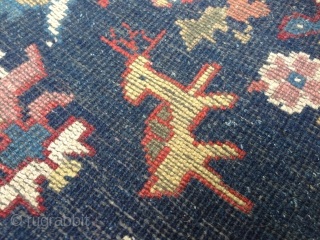 Beautiful rug from Westchina , good condition and colors. Size is 2,48m x 1,60m. Around 19th. cent.