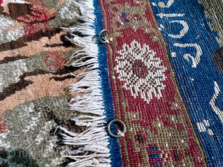 Rare antique Kisilajak rug, dated 1906. Good colors and very good condition. Size is 1,90m x 1,22m.