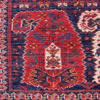 """A particularly attractive example of the Afshar boteh group of bags, with full, glossy pile. 14"""" x 23"""".  Please view the Recent Acquisitions on my website."""