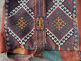 Rare 19th century C. Anatolian chuval in near mint condition. This remarkable chuval may be unmatched in terms of its beautiful composition, rich range of saturated colors, and fabulous weaving techniques. I've  ...