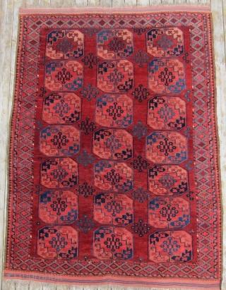 """19th C. Ersari main carpet, 7'3"""" x 10'2""""  Fine Ersari main carpet with excellent color and condition."""