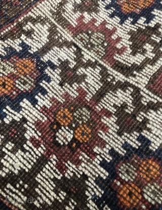 Kazak with Lesghi stars mini prayer rug dated 1311= 1893 Ca. 100x70 Rare piece and very decorative  White thick border