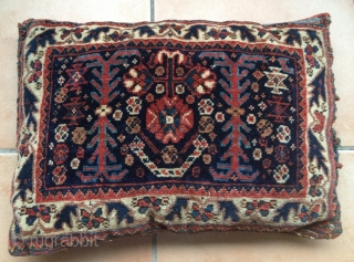 Antique Gashgai bag face filled * very nice colours * very good condition