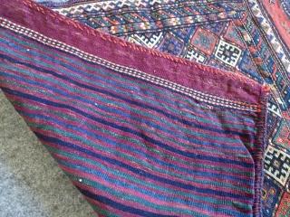 Antique Kurdish Sumak bagface, very good condition, nice colours Size: 100 x 80 cm