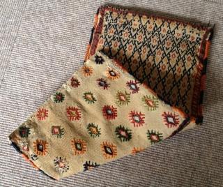 Antique Gashgai Chanteh flatweave Size: 40x22cm