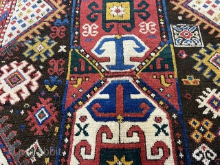 Antique Kazak Genje Rug 2,50x120 cm Good overall condition with some oxidation.