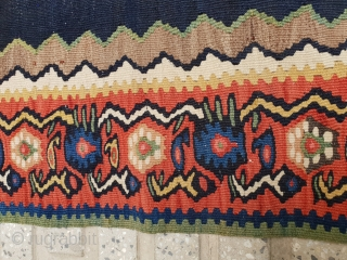 Hundred years old bijar kilim  In perfect condition