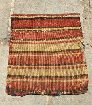 The most sought after sort of shahsavan weaving Reverse sumak chanteh circa 1900  dimension 25 * 23 cm