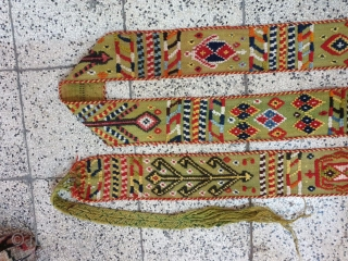 Qashqai strap ,aged almost 80 years  Excellent condition  , size  470 * 10 cm