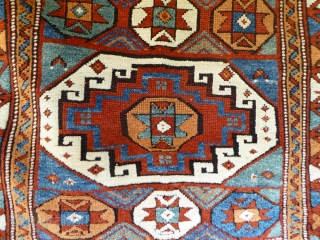 1527 Bergama Kozak circa 1880 or earlier.  In good condition with all natural dyes.