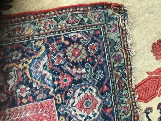 1605 Antique Fereghan circa 1880 possibly earlier.  196 x 122. In good condition without restoration, Brilliant range of colours and rare example
